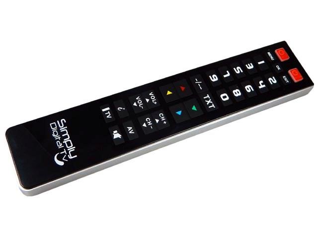 Superior Simply Digital TV samostatný programovatelný dálkový ovladač 2in1