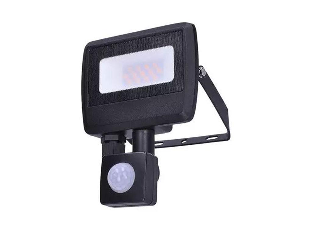 Svítidlo reflektor LED 10W MCBO s PIR, černý