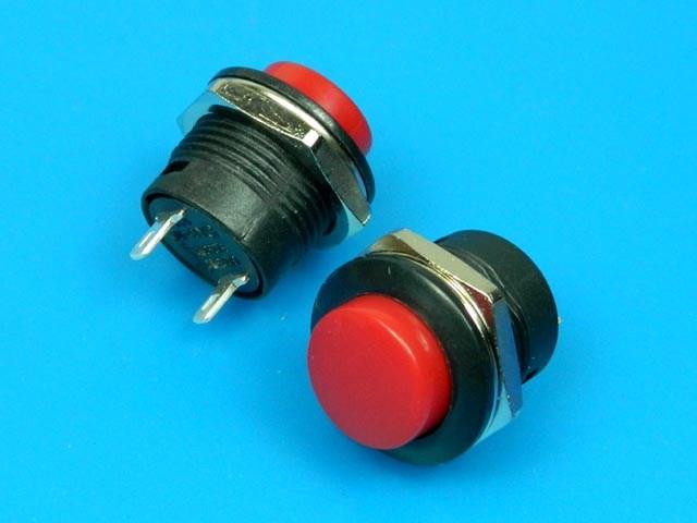 Tlačítko spínač kulatý červený PS507A-BR