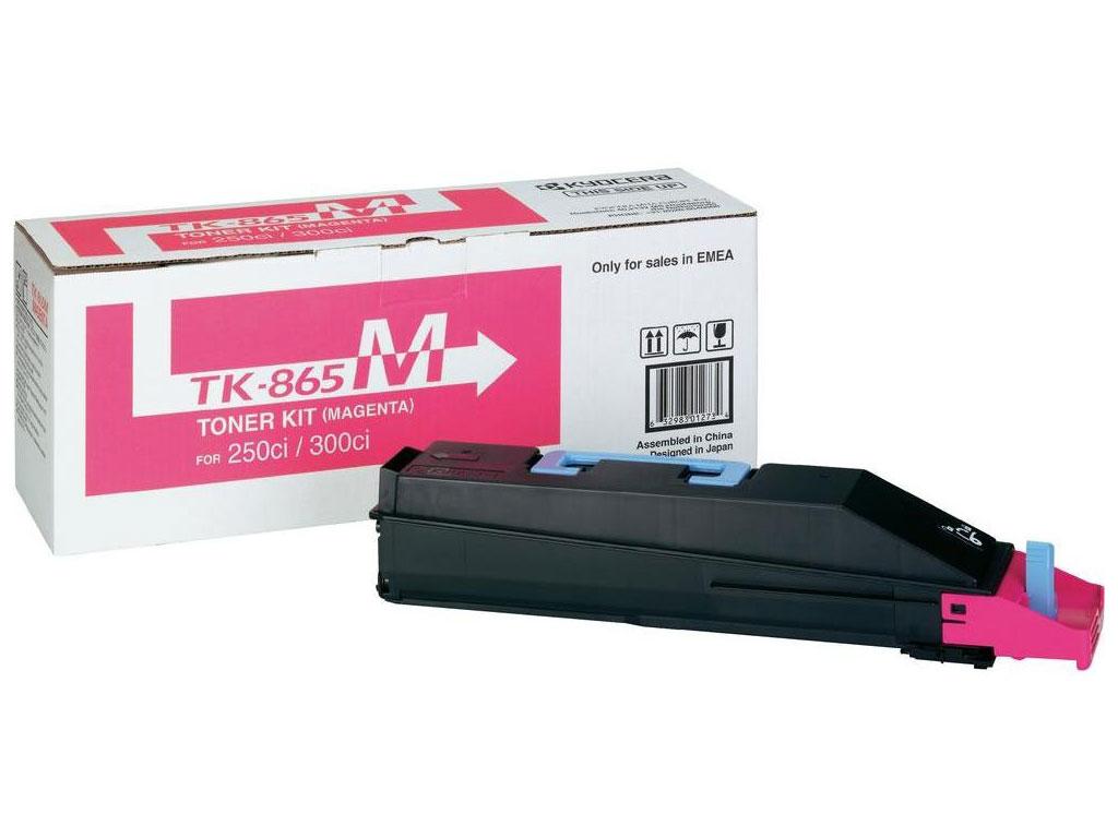 Toner kit Kyocera Mita TK865M TK-865M 250Ci 300Ci 400Ci 500Ci magenta originální