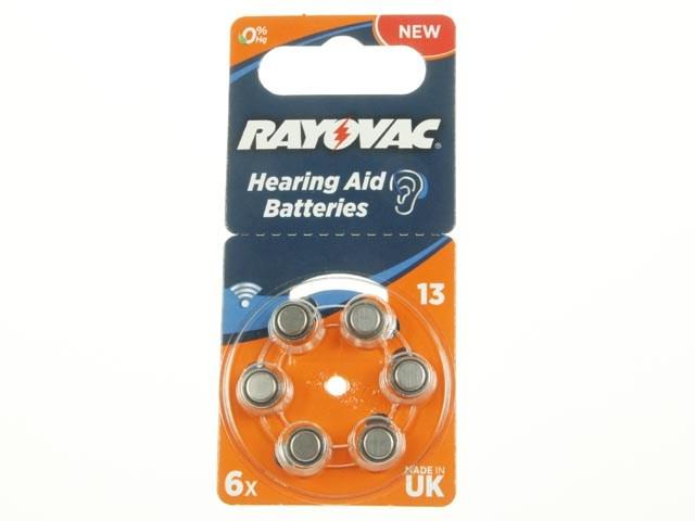 V13 Baterie do naslouchátek RAYOVAC Extra Advanced 13 AU PR48 - balení 6ks