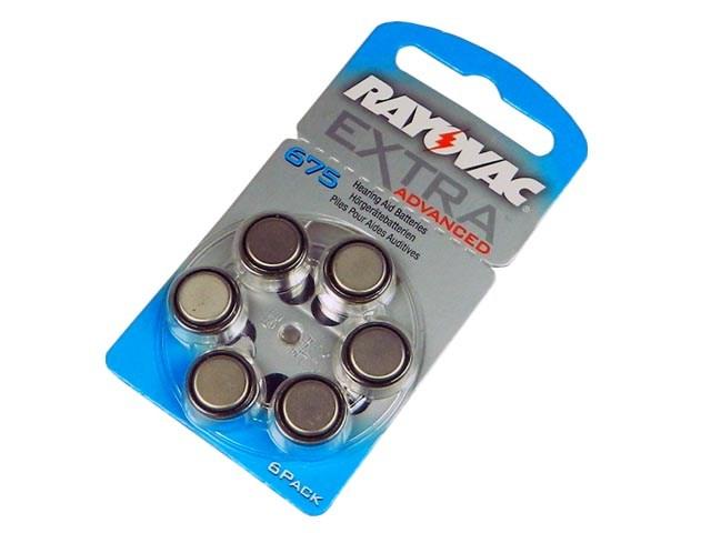V675 Baterie do naslouchátek RAYOVAC Extra Advanced 675 AU PR44 - balení 6ks