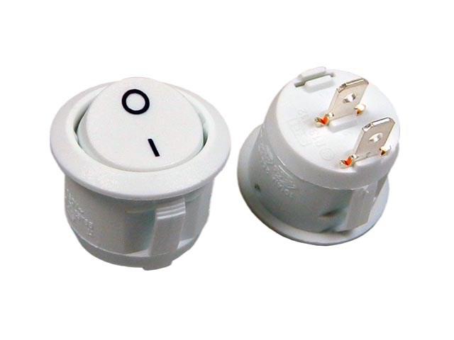 Vypínač kolébkový kulatý SCI R13112A02WW2 bílý ON-OFF