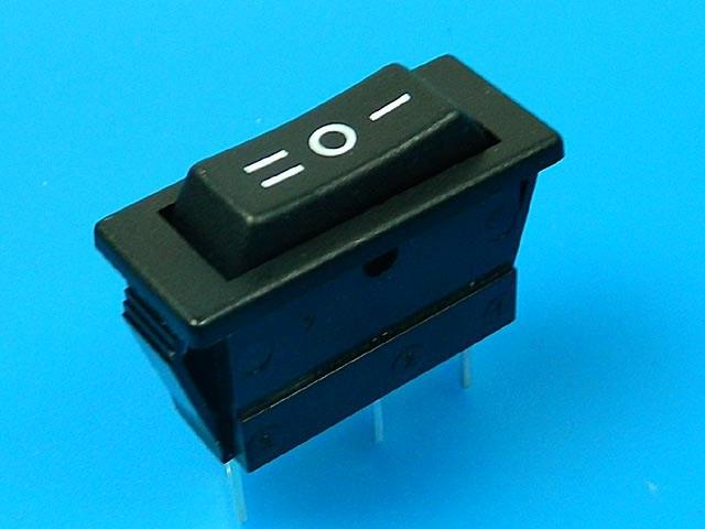 Vypínač kolébkový malý ARCOLECTRIC C1520ALAAF černý ON-OFF-ON