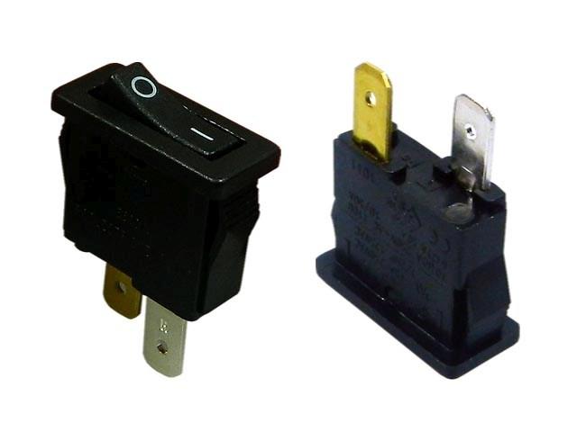 Vypínač kolébkový malý ARCOLECTRIC H8800VAAAB černý ON-OFF