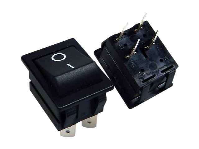 Vypínač kolébkový velký ARCOLECTRIC C1551ALAAD černý OFF-(ON)