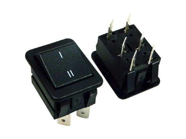 Vypínač kolébkový velký ARCOLECTRIC C1560ABAAI černý ON-ON