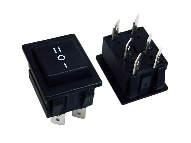 Vypínač kolébkový velký ARCOLECTRIC C1570ALAAD černý ON-OFF-ON
