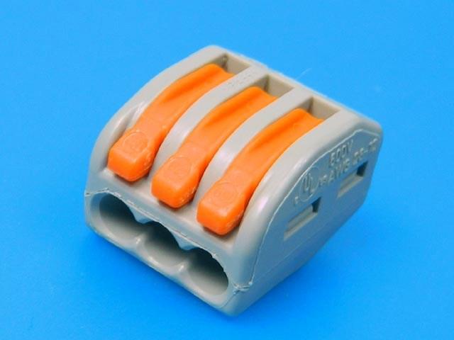 WAGO svorka 222-413 bezšroubová 3 x 0,08 - 4,0mm²
