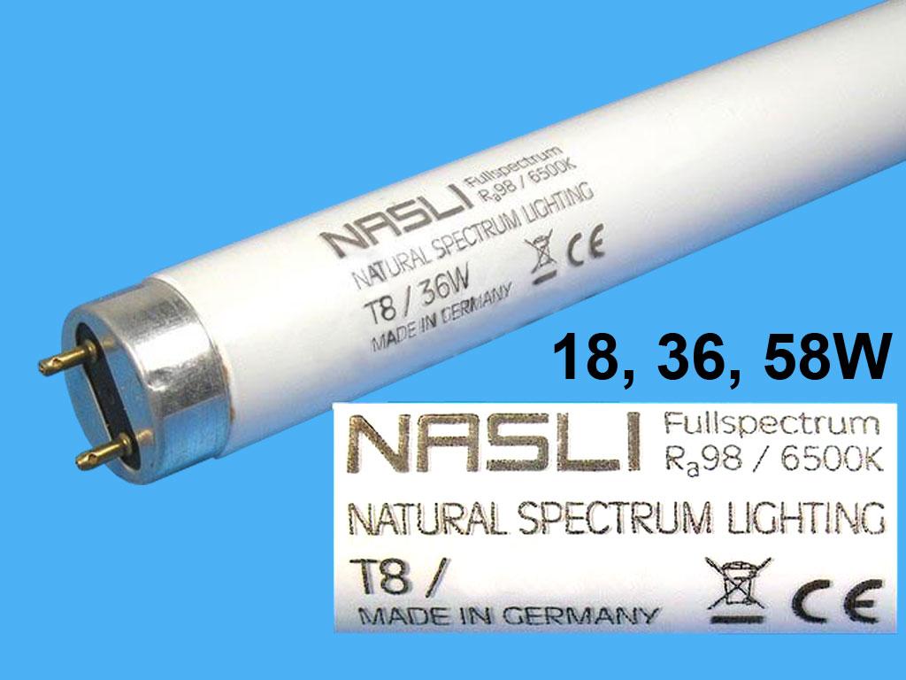 Zářivka plnospektrální 18W T8 60cm NASLI