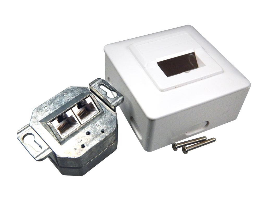 Zásuvka síťová 2 x RJ45 na omítku TC74251ASET