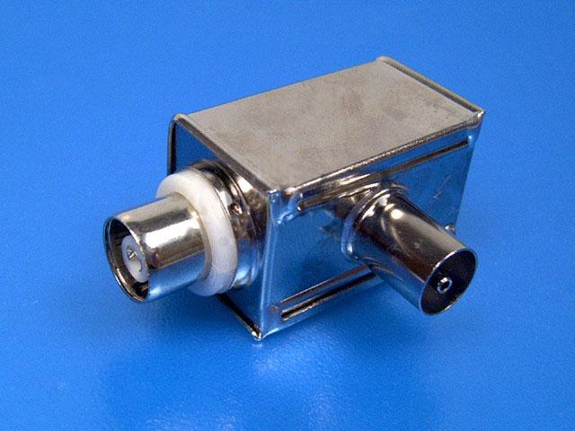 anténní IEC filtr kovový pro 100Hz TV - galvanické oddělení antény