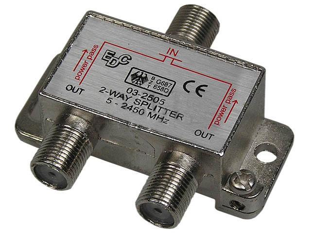 anténní rozbočovač SAT 2 výstupy SVT200