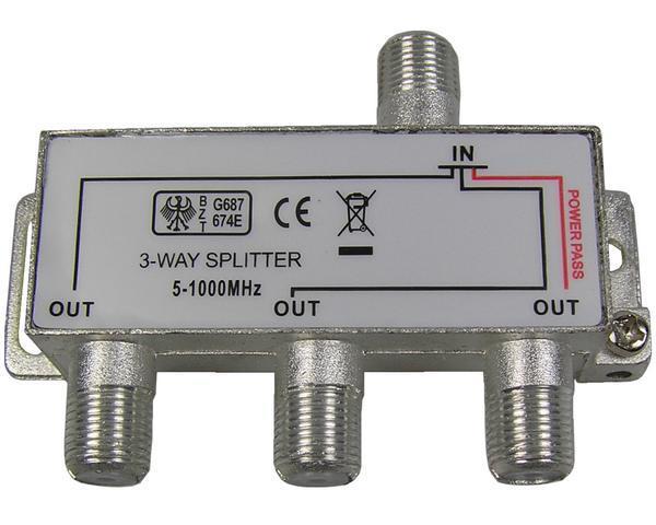 anténní rozbočovač TV s 3 výstupy 1xDC pass RO10