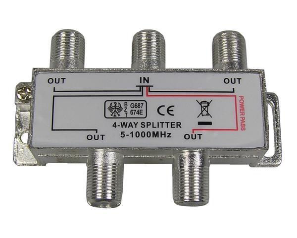 anténní rozbočovač TV s 4 výstupy 1xDC pass RO11