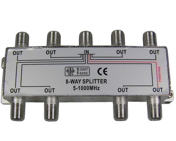 anténní rozbočovač TV s 8 výstupy 1xDC pass RO13
