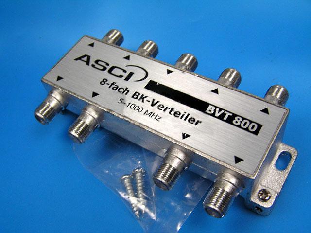 anténní rozbočovač TV s 8 výstupy BVT800 8xDC pass
