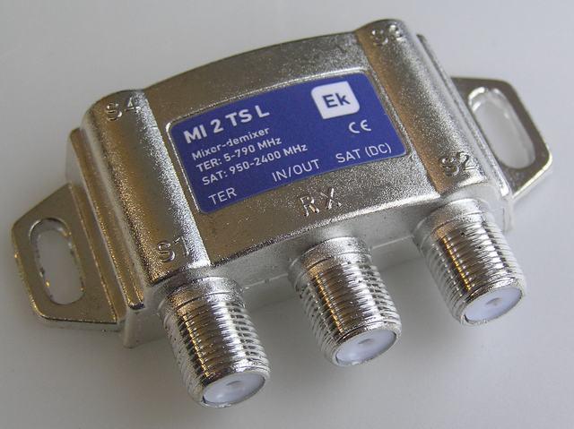 anténní slučovač F TV / SAT s LTE filtrem MI2TLS ITS