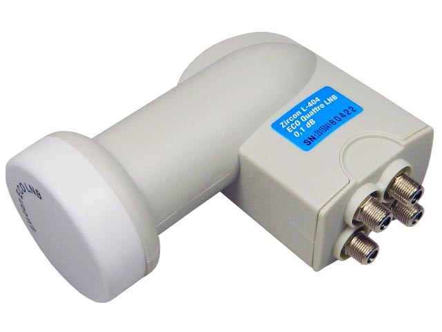 konvertor LNB Quatro Zircon L404 ECO univerzální 0,1dB