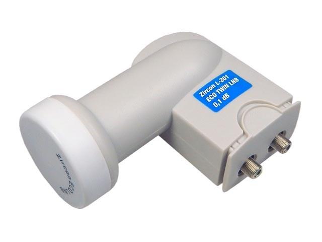 konvertor LNB Twin Zircon L201 ECO univerzální 0,1dB