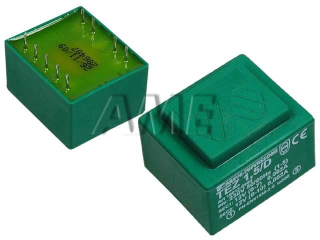 transformátor síťový do plošného spoje 230 / 12V - 1.5VA