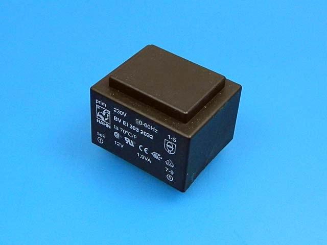 transformátor síťový do plošného spoje 230 / 12V - 2VA