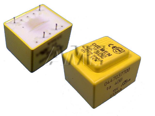 transformátor síťový do plošného spoje 230 / 15V - 233mA