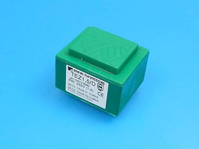 transformátor síťový do plošného spoje 230 / 2x12V - 1.5VA