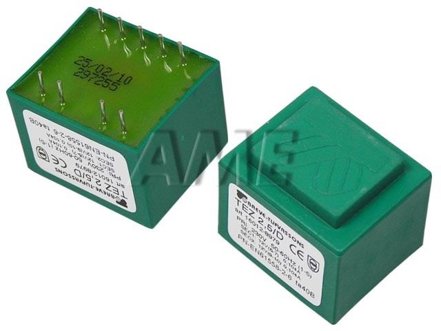 transformátor síťový do plošného spoje 230 / 2x12V - 2.5VA