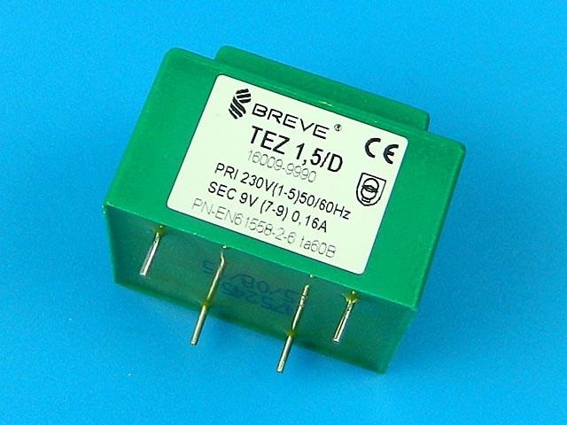 transformátor síťový do plošného spoje 230 / 9V - 1.5VA