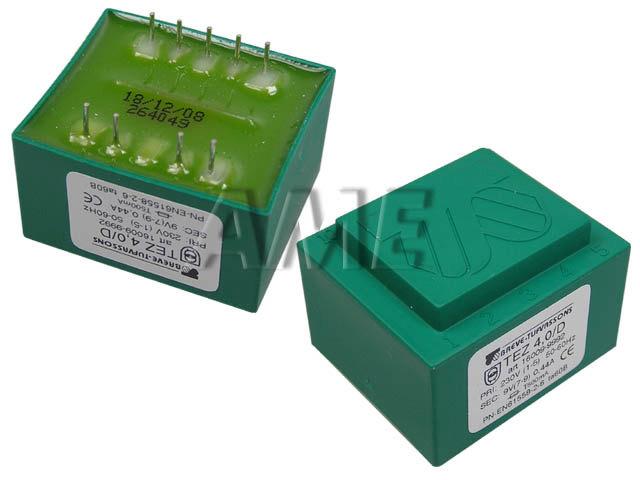 transformátor síťový do plošného spoje 230 / 9V - 4VA