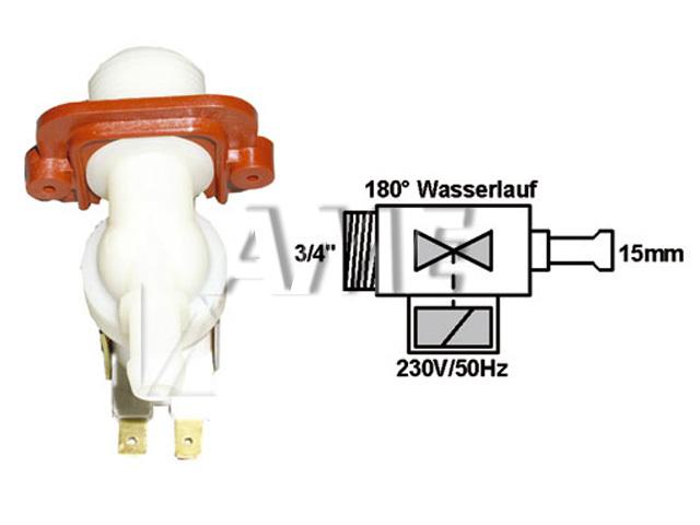 ventil napouštěcí univerzální 1xcestný (180 st.) přímý 2