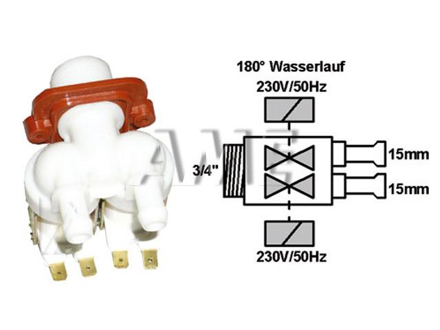 ventil napouštěcí univerzální 2xcestný (180 st.) přímý 2