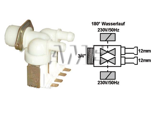 ventil napouštěcí univerzální 2xcestný (180 st.) přímý