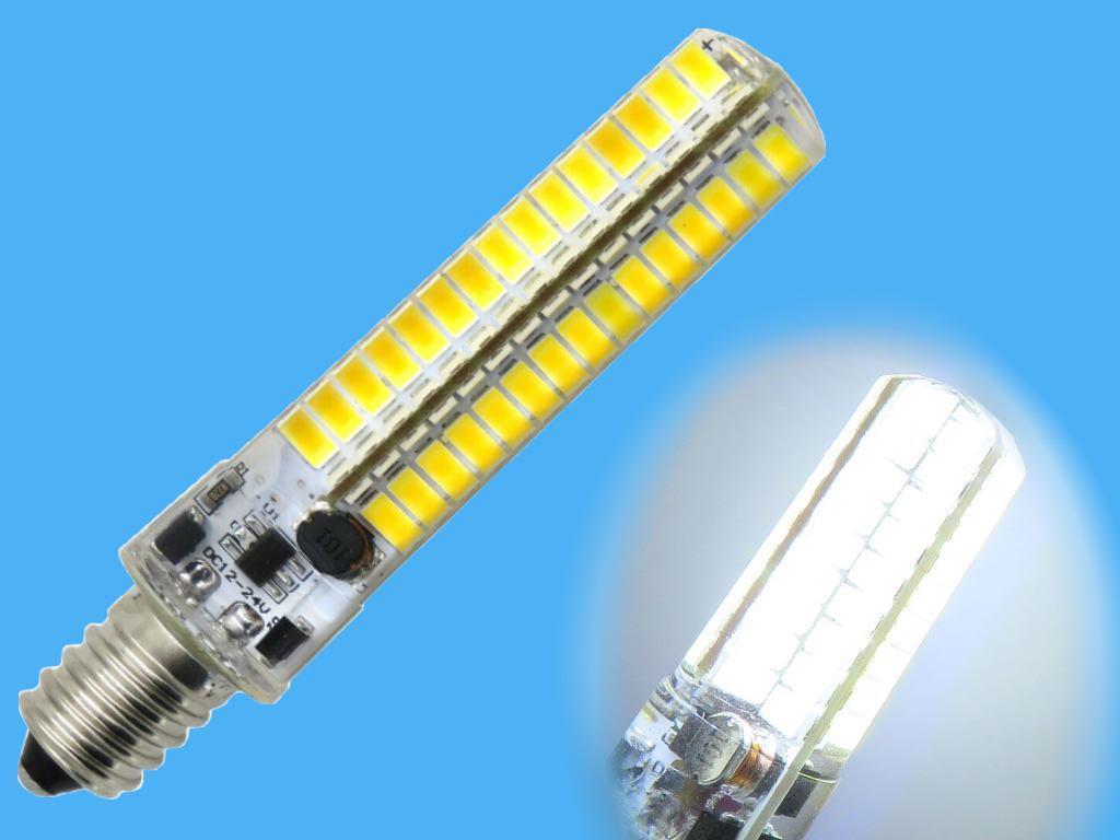 žárovka LED E14 5W Tipa C37 bílá přírodní (Pc) čirá 4000-4500K světelný tok 400lm úhel 240°